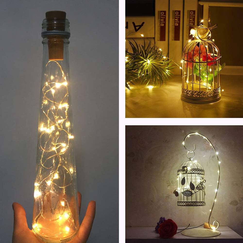 Luces de Botella Cadenas Luces para Botella de Vino Luz Corcho ...