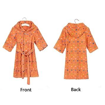 Bathrobe Albornoz de algodón para niños, Tela de Rizo Mujeres y Batas con Capucha, Suaves y cómodas: Amazon.es: Hogar