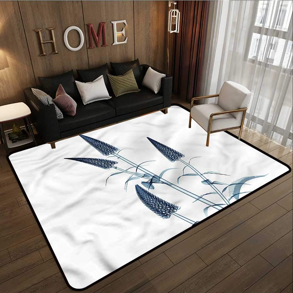 "Flower,Indoor Super Absorbs Doormat 48""x 72\"" X-Ray View of a Blossom Modern Area Rug with Non-Skid"