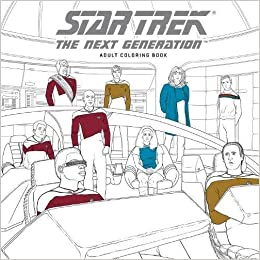 amazoncom star trek the next generation adult coloring book 9781506702513 cbs books - Star Trek Coloring Book
