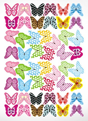 50 Mix Edible Butterflies 24 designs 30mm PRE-CUT Wafer Paper Edible Cupcake Toppers Party Birthday Wedding Decorations (Christmas Uk Decorations)