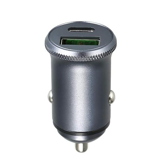 Cargador de coche USB tipo C, cargador de coche Cargador de ...