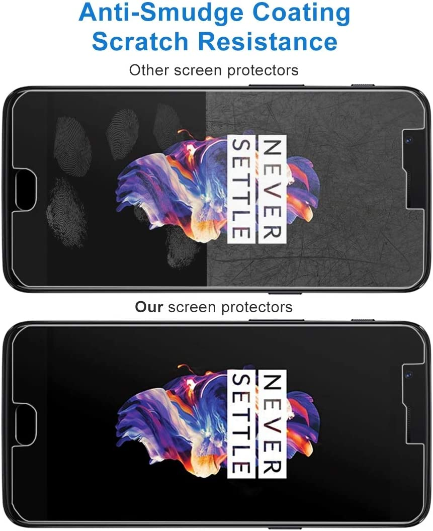 HAIJUN Phone Screen Film XINGHCEN 100 PCS for OnePlus 5 0.3mm 9H Surface Hardness 2.5D Explosion-Proof Non-Full Screen Tempered Glass Screen Film Anti-Scratch Tempered Glass