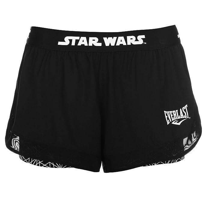Everlast Mujer Star Wars Shorts Señoras Pantalones Cortos Casual Ropa Vestir x-Small