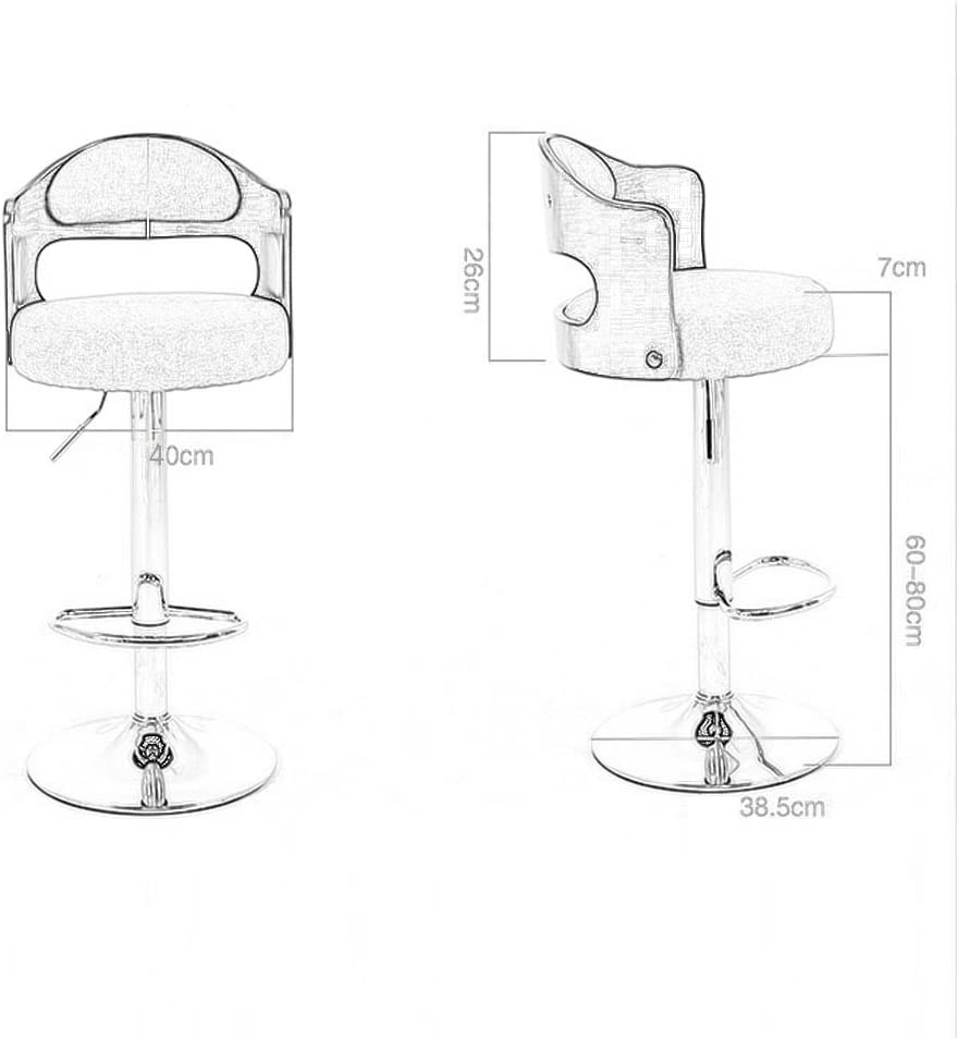 Sucastle LIFEIYAN Lifting and rotating simple bar chair beauty salon barber work bench laboratory work stool (Color : #6) #3