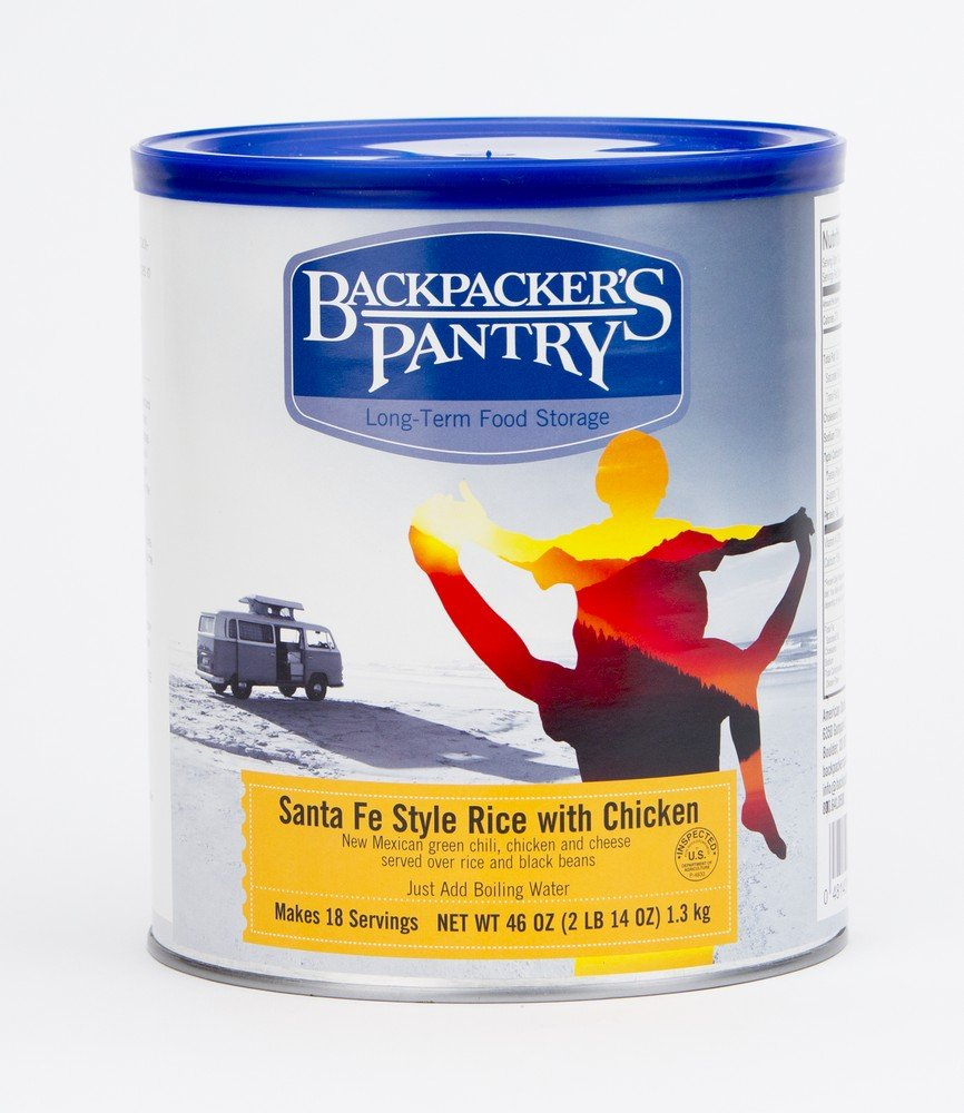 Backpacker's Pantry Santa Fe Style Rice with Chicken, 46 Ounces, #10 Can