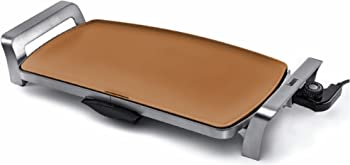 Bialetti Copper Titanium Ceramic Nonstick Electric Griddle