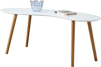 Convenience Concepts 203582W Coffee Table, White/Bamboo