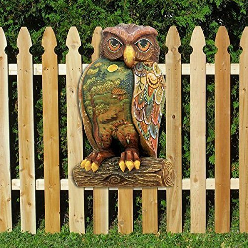 G Debrekht Halloween Owl Wooden Indoor Outdoor Wooden Fall Halloween