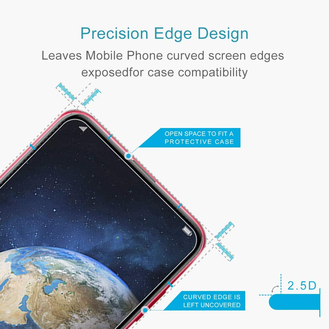 YINZHI Screen Protector Film 100 PCS 0.26mm 9H 2.5D Explosion-Proof Tempered Glass Film for Huawei Honor Magic 2 Clear