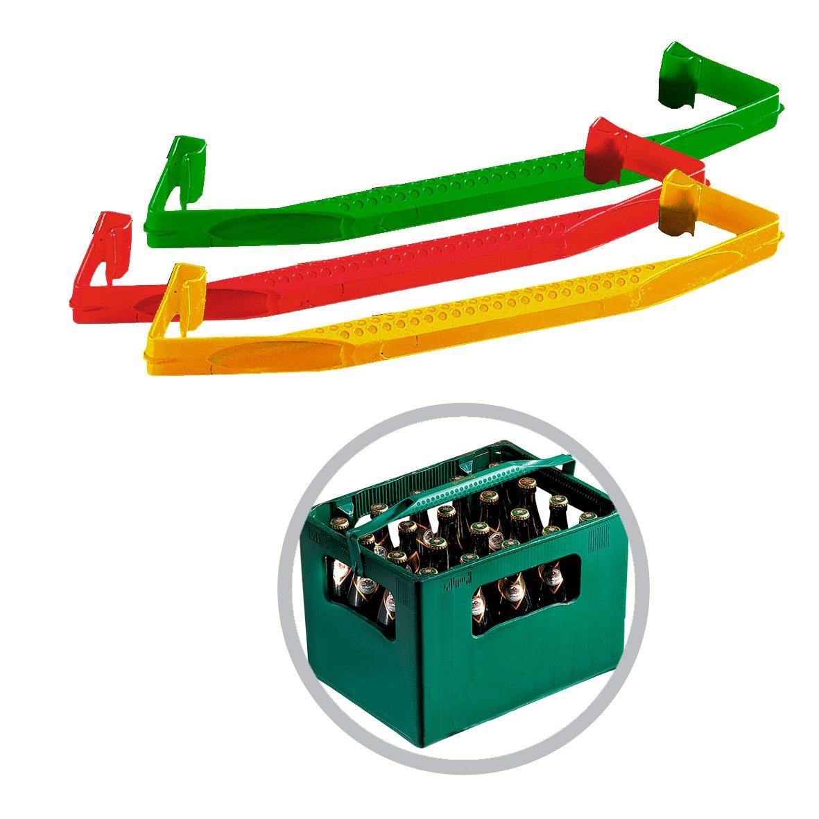 noTrash2003 Bierkasten Getr/änkekasten Tragehilfe Transporthelfer im Doppelset Qualit/ät Made in Germany farblich Sortiert
