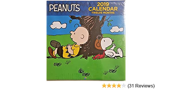 """Peanuts 2019 Wall Calendar 12 Month NEW SEALED 10/"""" X 20/"""" when opened"""