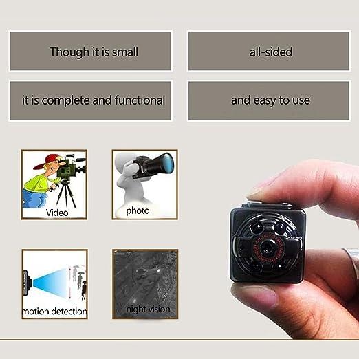 Mini cámara espía Inalámbrica Oculta Visión nocturna y Sensor de movimiento Cámara HD Portátil Pequeño 1080 P Grabadora video Cámara DV inteligente Cámara ...