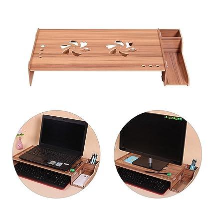 Amazon Com Kangsur Wooden Office Desk Organizer Multifunction Paper