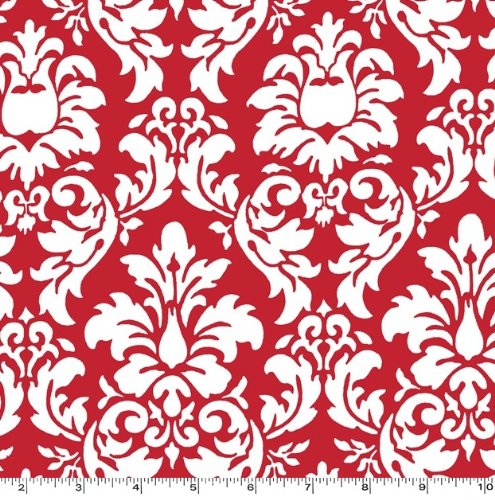 Dandy Damask Rouge Red Fabric Three Yards (2.7m) CX3095-ROUG-D