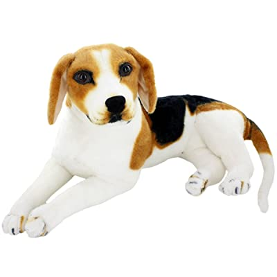 JESONN Realistic Stuffed Animals Beagle Dog Plush Toys (17.7 Inch): Toys & Games