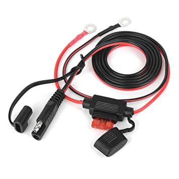 20A Fuse SCCKE 1.6FT 14AWG Ring Terminal to SAE Harness Quick Connect//Disconnect Assembly