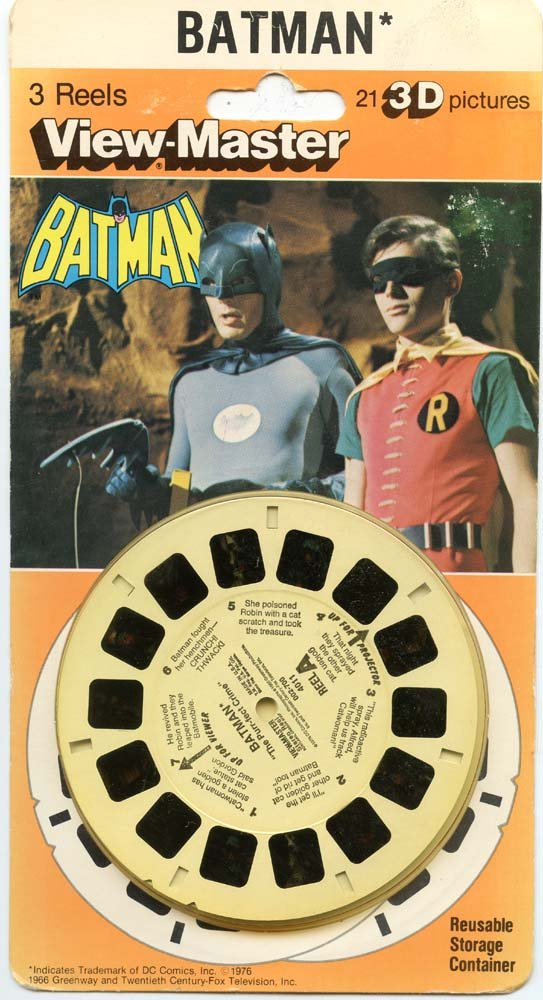 ViewMaster - Batman - scenes from the Television show - 3 Reels - New