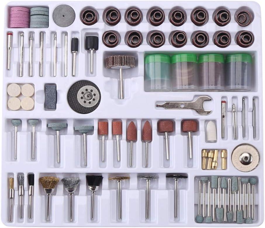 Rotary Tool Accessories kit, 216pcs Mini Rotary Tool Accessories Kit Polish Grind Drill Set for Easy Cutting Carving Polishing