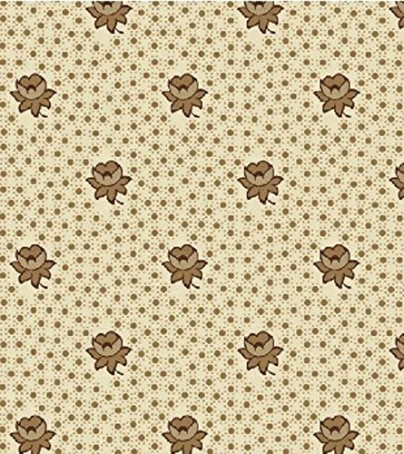 Fabric - Cat in the Manor - Cream Floral Dots - 100% Cotton - By the Yard Manor Cream