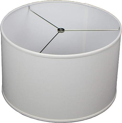 White FenchelShades.com 16 Top Diameter x 16 Bottom Diameter 10 Height Lampshade USA Made