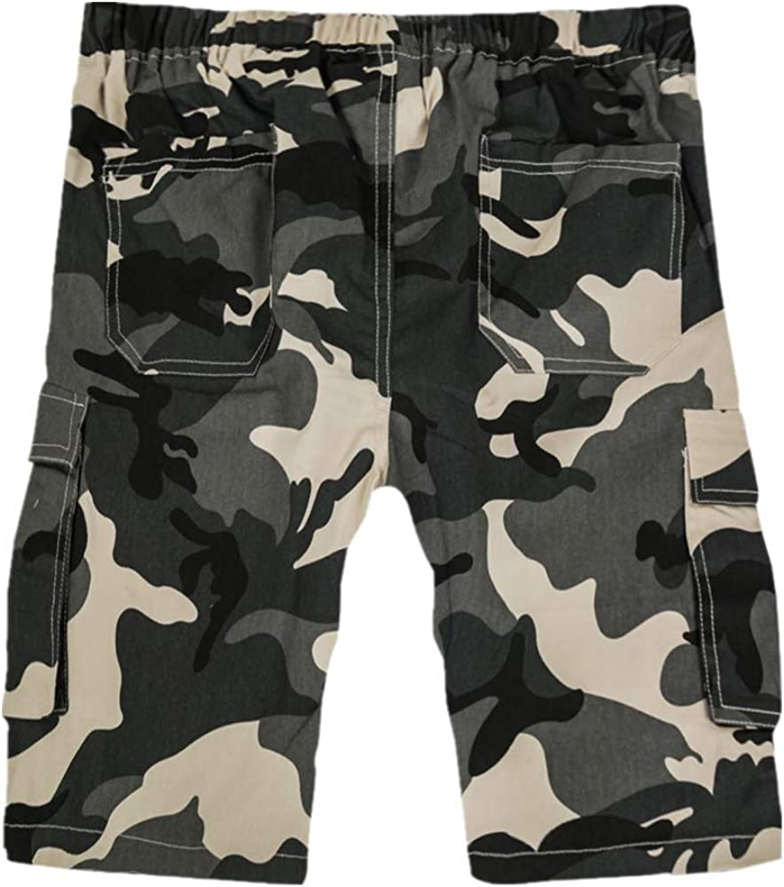 ELETOP Mens Cargo Shorts Summer Work Shorts Lounge Multi-Pockets Casual Combat Shorts Belt not Included