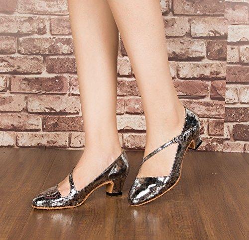 femme 5cm Salle heel Miyoopark Gray bal de vqHcvwU8