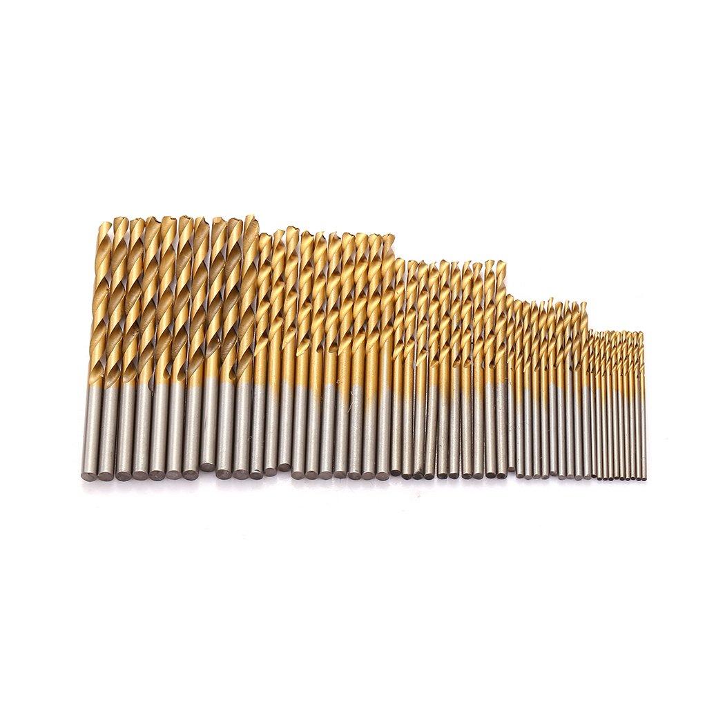 50 Pcs Twist Drill Bit Set, Probe Pin Micro Hand Drill Chuck Bits Wood Jewelry Drilling Tool 1/1.5/2/2.5/3mm 5Sizes