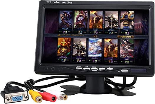 Tyld El Monitor retrovisor del automóvil de 7 Pulgadas, Pantalla LCD HD VGA, se Puede conectar a la computadora como Pantalla de computadora,64GSDcard: Amazon.es: Electrónica