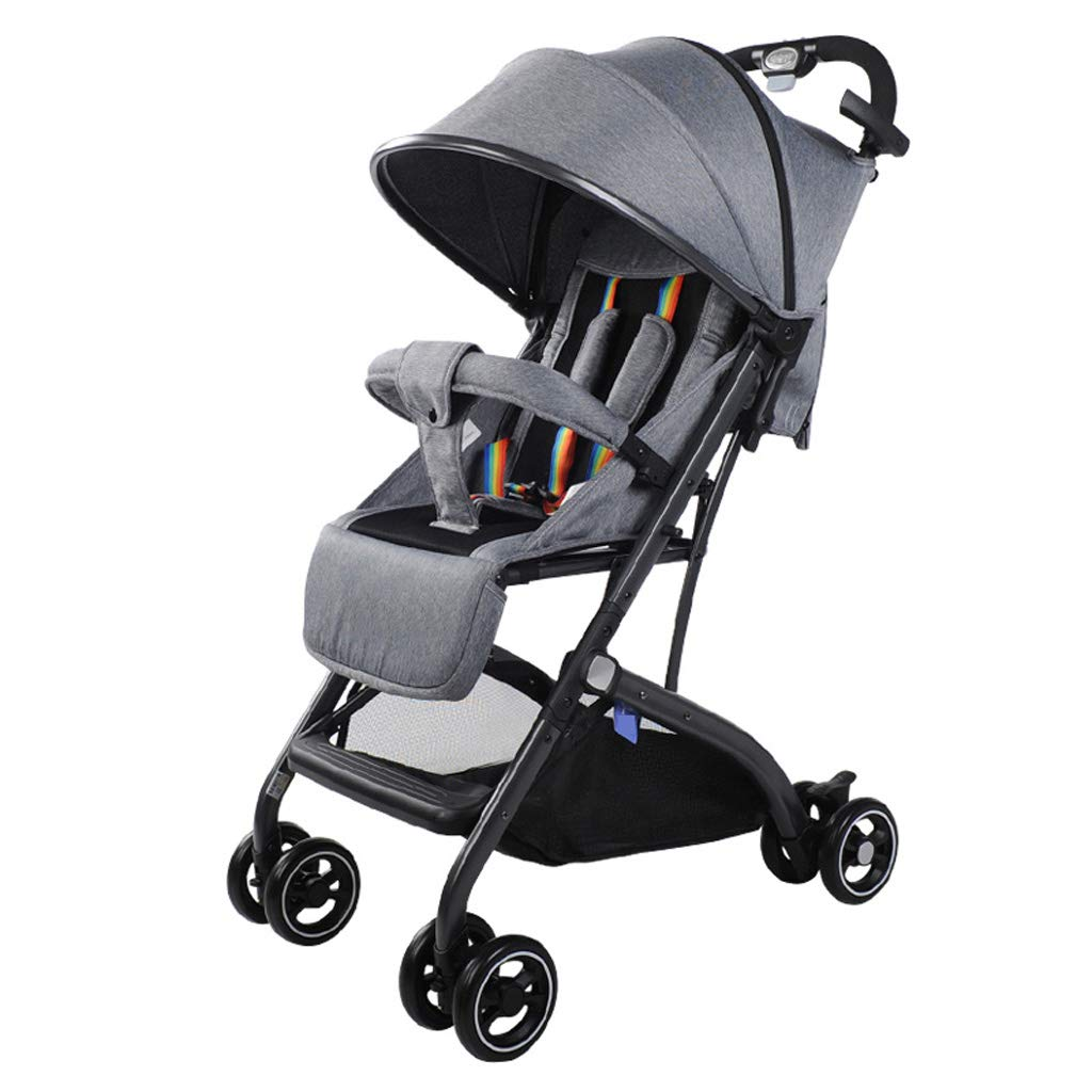 Variable Trolley Case Baby Stroller Adjustable High View Pushchair Travel System - 49 56 cm (Compact Folding)