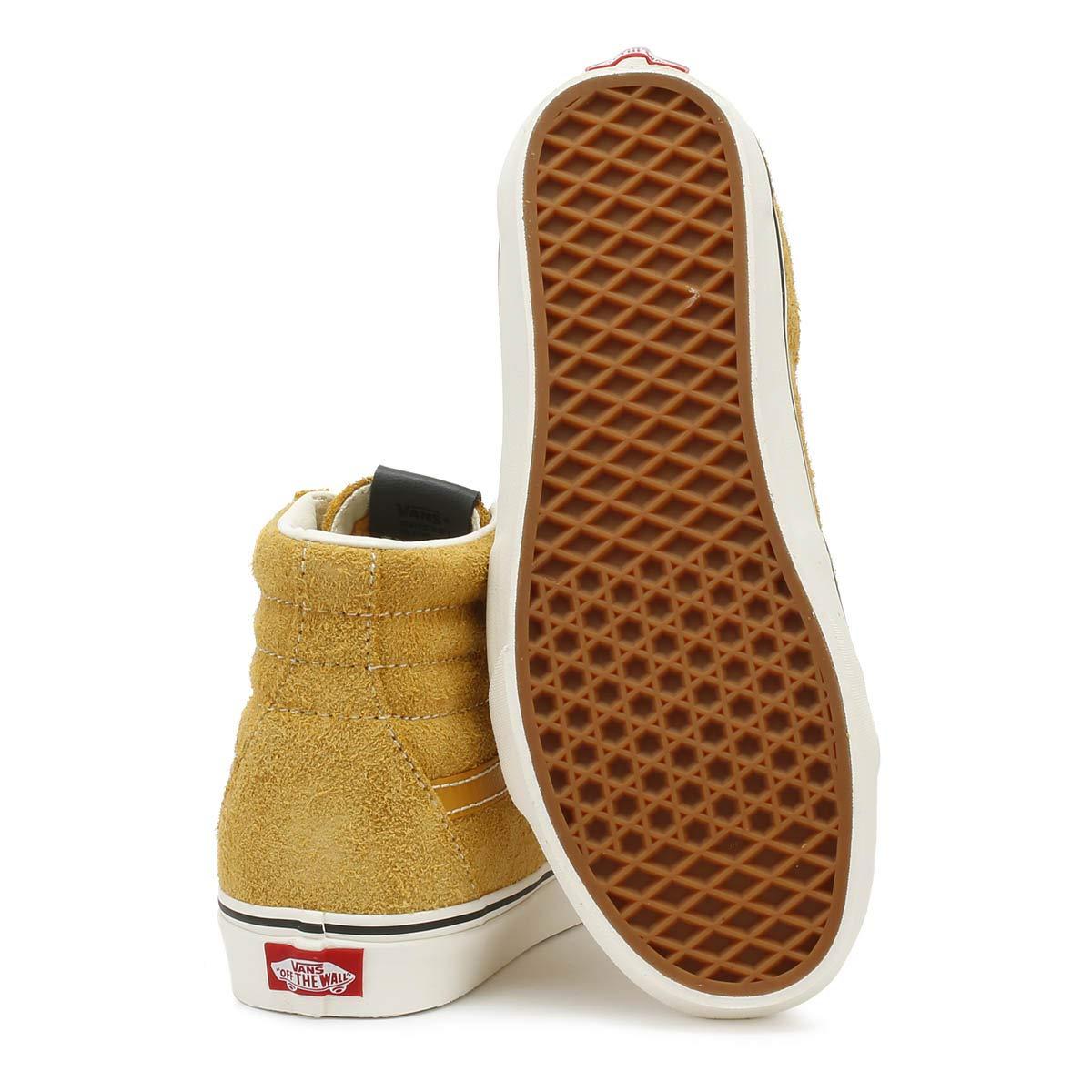 Vans SK8 Hi Hairy Wildleder Herren Sunflower Beige Sneakers