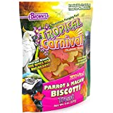 Cheap F.M. Brown's Tropical Carnival Biscotti Biscuit Training Treat for Parrots and Macaws, Fortified with Vitamins and Minerals, Clover-Shaped for Foot-Feeding Birds, 8oz