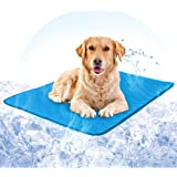 Hcman Gel Self Cooling Dog Mat – Pet Dog Cooling Gel Mat Pad Keeps Dogs and Cats Cool in Warm Weather, Pressure Activated, No