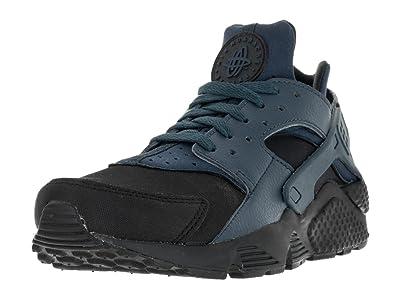 Nike Air Huarache Premium Run PRM 704830-004 Black Squadron Blue Men s Shoes  ( 859fd50ef