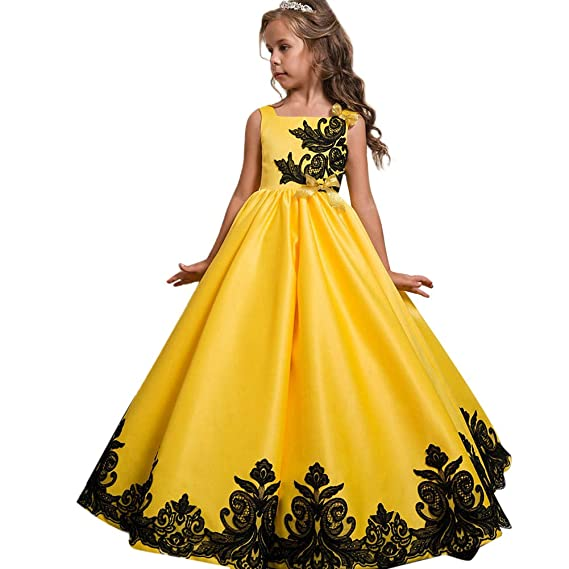 b867b5773943 Flower Girls First Communion Party Dress Wedding Bridesmaid Pageant ...