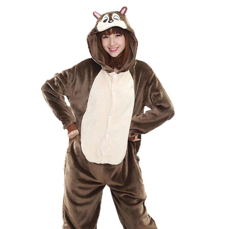 Women's Chipmunk Onesie Adult Pajamas Cosplay Costume