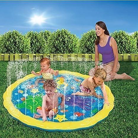 SPRINKLE N SPLASH - Estera de juegos para niños inflable para jardín anilla pulverizador de agua juguete: Amazon.es: Deportes y aire libre