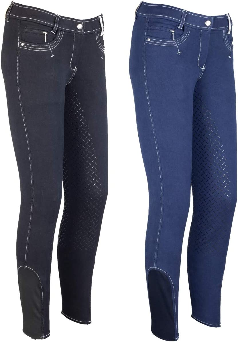 LAZURA Emma - Pantalones de equitación para Mujer (Silicona), Color Azul