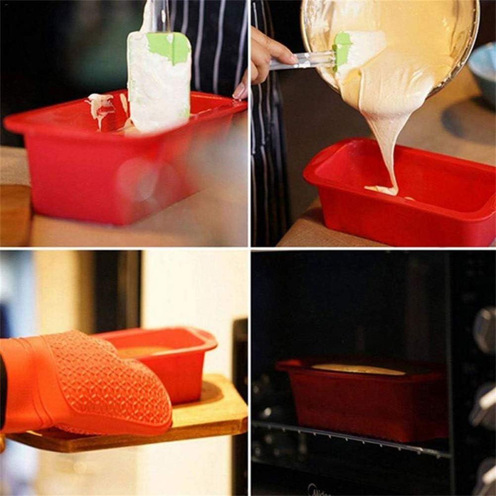 Surenhap Molde rectangular de silicona con mango antiadherente
