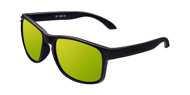 Northweek Bold Lipslide - Gafas de Sol para Hombre y Mujer, Polarizadas, Negro / Dorado