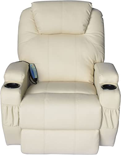 Massage Recliner Sofa Leather Vibrating Heated Chair Lounge Executive w/ Control - a good cheap living room chair