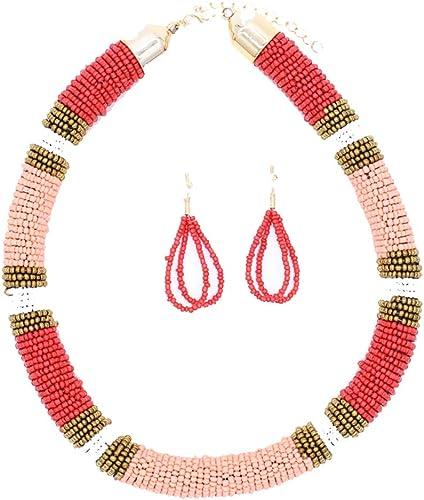 tribal jewelry ethnic jewelry beaded jewelry Zulu beaded bangle and earrings set