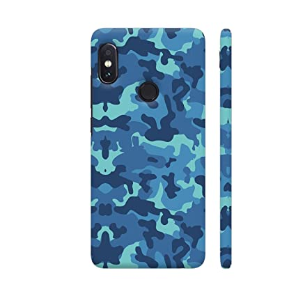 official photos 9b265 92cd7 Colorpur Blue Camouflage Pattern Printed Back Case For: Amazon.in ...