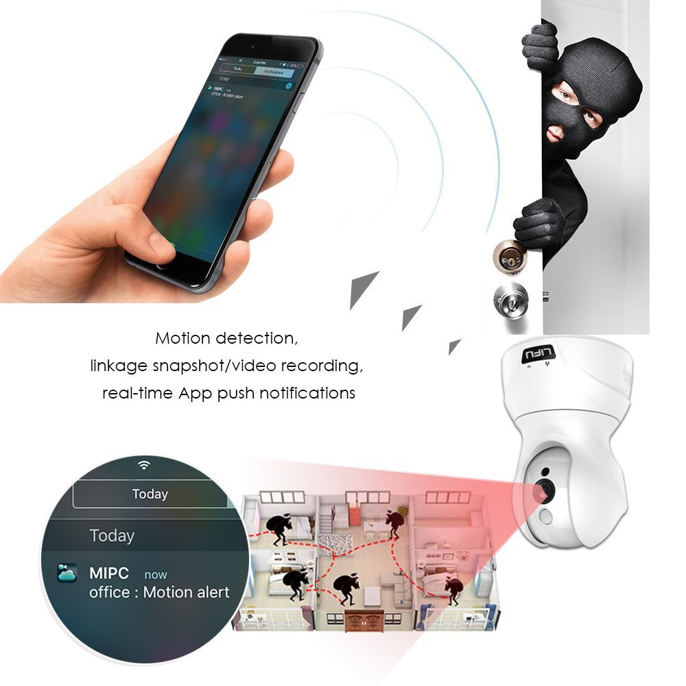 MOBILE APP VIEW V-TAC WIFI BABY MONITOR MOTION DETECTION,AUDIO COMMUNICATION