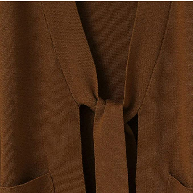 Fanxing Damen Wintermantel Loose Fit Long Sleeve Strickjacke Mantel Tops   Amazon.de  Bekleidung f866046c33
