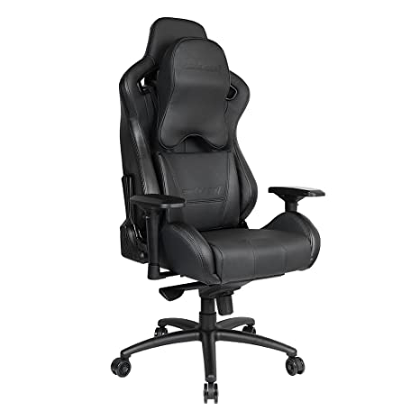 Remarkable Upgrade To Large Size Memory Foam Pillow Anda Seat Premium Gaming Chair Dark Knight High Back 400Lb Racing Style Seat Computer Office Chair With Bralicious Painted Fabric Chair Ideas Braliciousco