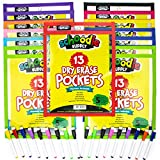"Dry Erase Pockets, 13 Pack of 10'' x 13"" Clear Reusable Sleeves that Write and Wipe Clean, Pocket Holds Multiple Sheets, Protector Saves Paper, Perfect for Homeschool and Teachers, Markers Included"