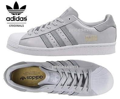 adidas Originals Superstar Boost Grey White Mens Trainers UK 13.5 ... a9e47054e