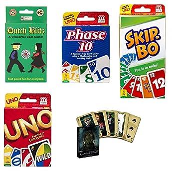 Juego de cartas - Paquete de regalo (incluye uno, fase 10 ...