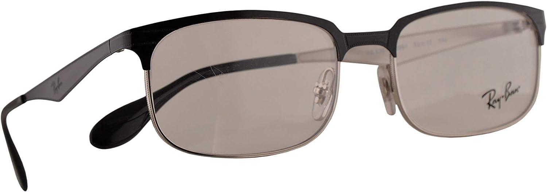 Ray-Ban RB 6361 Gafas 52-17-140 Negras Plateadas Con Lentes De Muestra 2861 RX RX6361 RB6361: Amazon.es: Ropa y accesorios